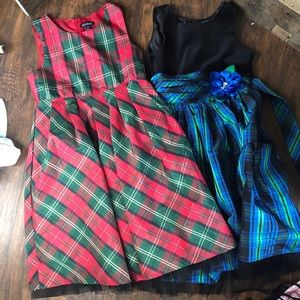 Plaid fancy dresses size 12 girls